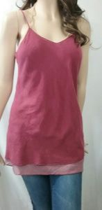Maroon & Pink Layered Camisole